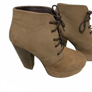 Steve Madden Leather Ankle Boots 8.5